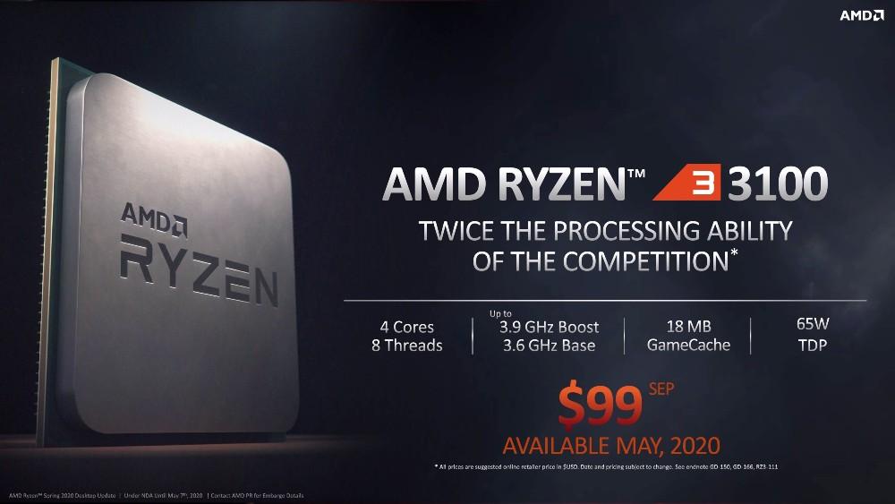 AMD Ryzen 3 3100