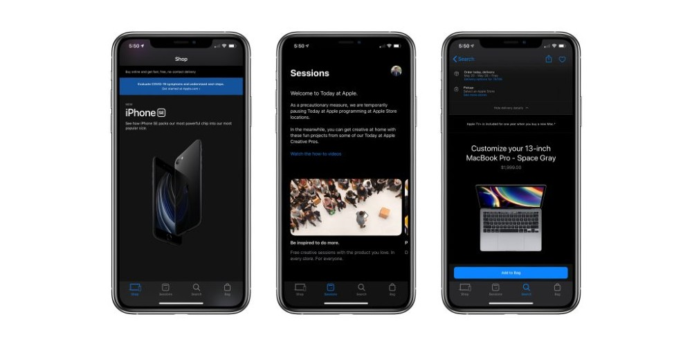 App Store dark mode