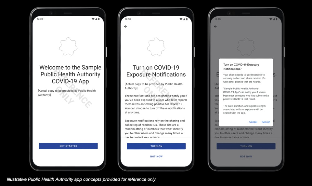 Apple and Google Covid-19 notifications