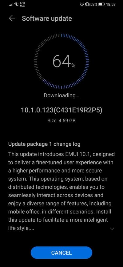 Huawei P30 EMUI 10.1 Update Europe Global Stable
