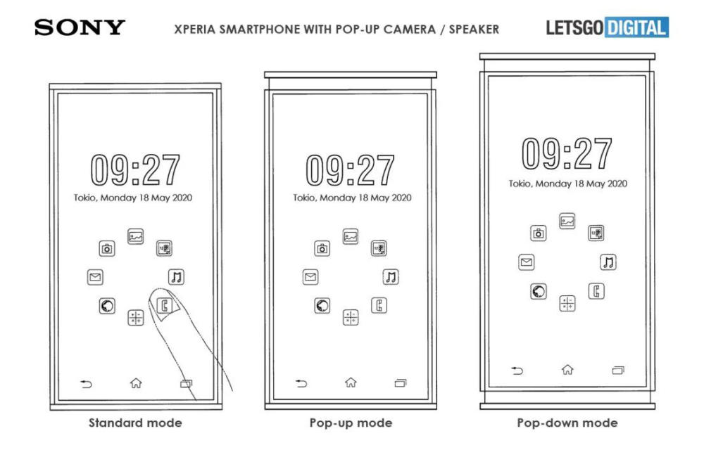 Sony Xperia Dual Pop Up Patent