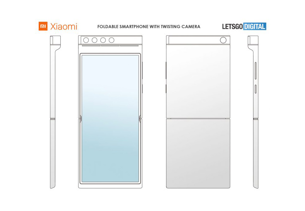 Xiaomi smartphone twisting camera setup