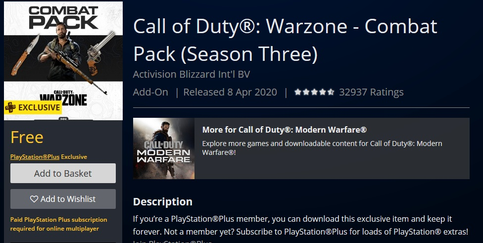 Call of Duty: Warzone PS Plus