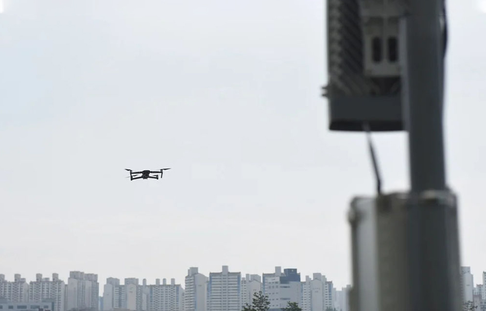 Samsung Drones System with AI and Machine Learning for 5G