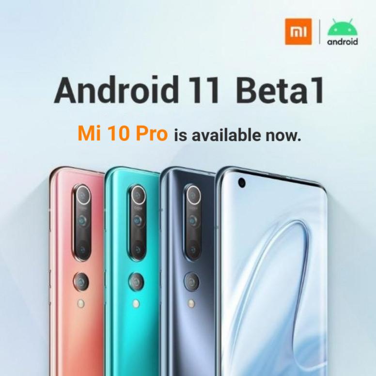Xiaomi Mi 10 Pro Android 11 beta