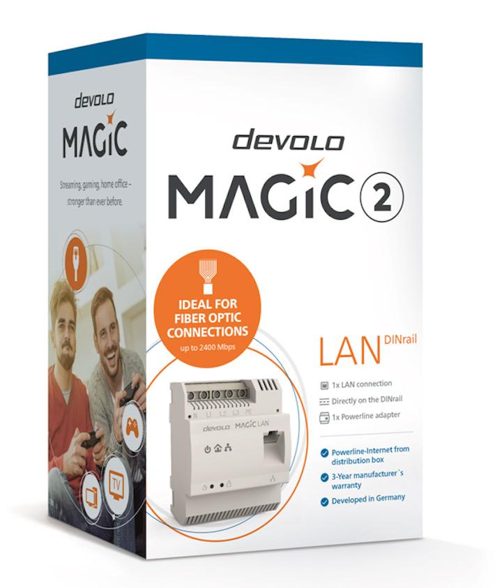 devolo Magic 2 DINrail pack shot