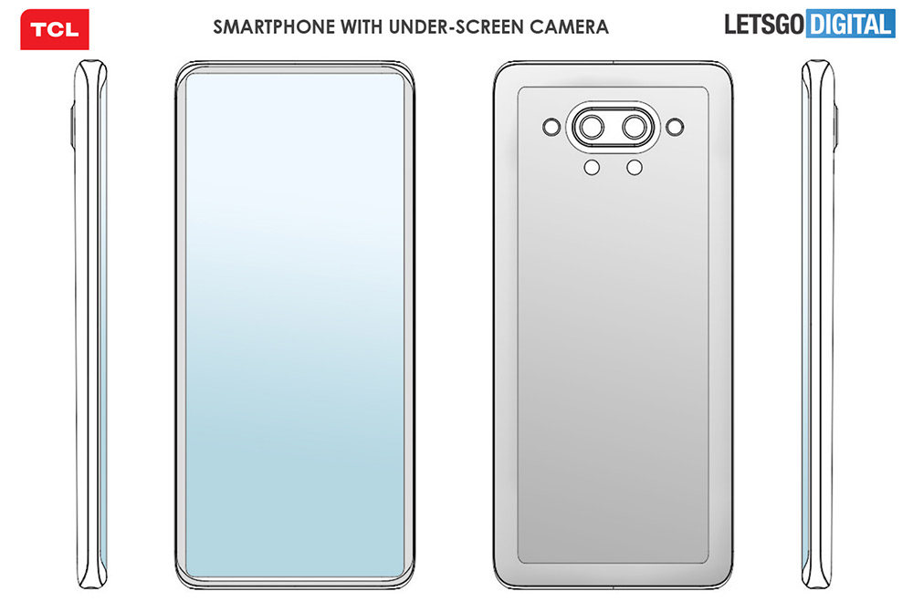 tcl under-screen smartphone patent