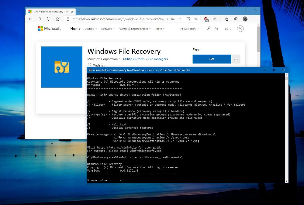 H Microsoft προσφέρει το Windows File Recovery Tool για ανάκτηση δεδομένων