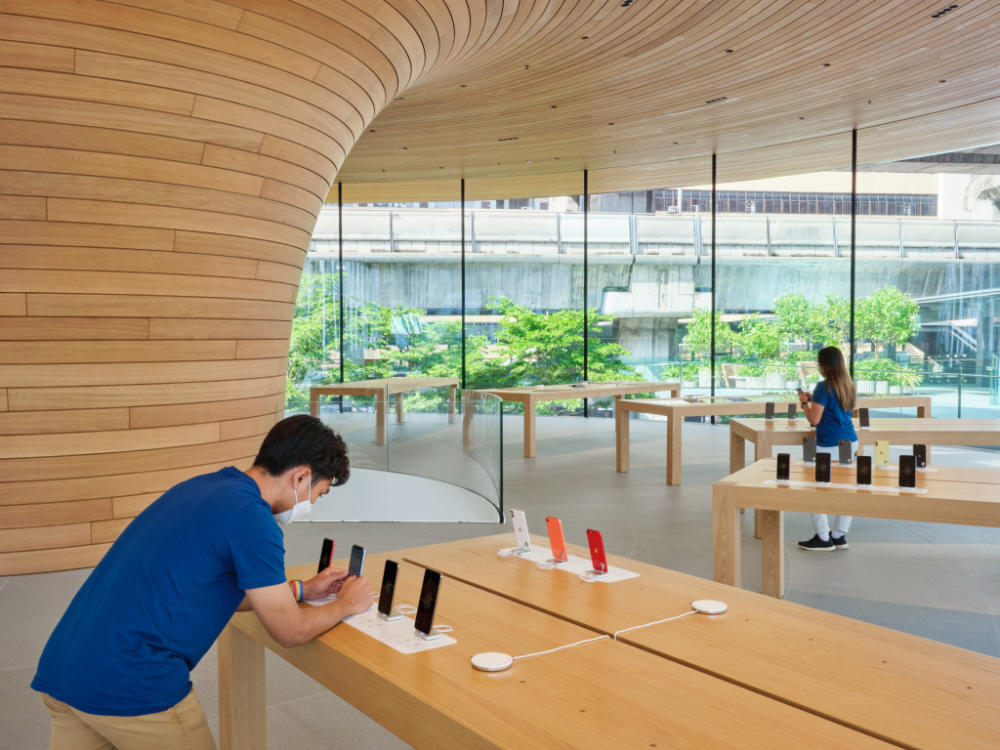 Apple Central World Bangkok Tree Canopy Design