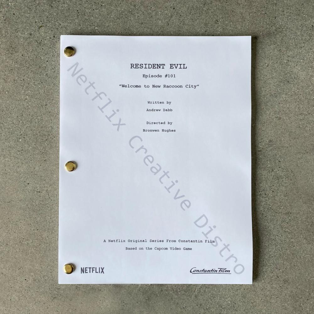 Resident Evil script movie