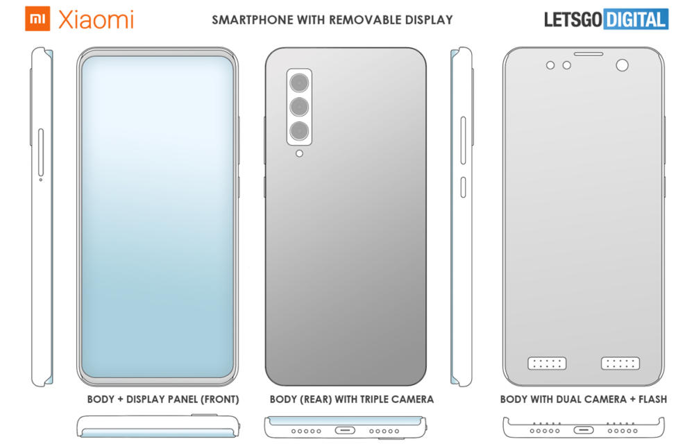 Xiaomi Removable Display Patent