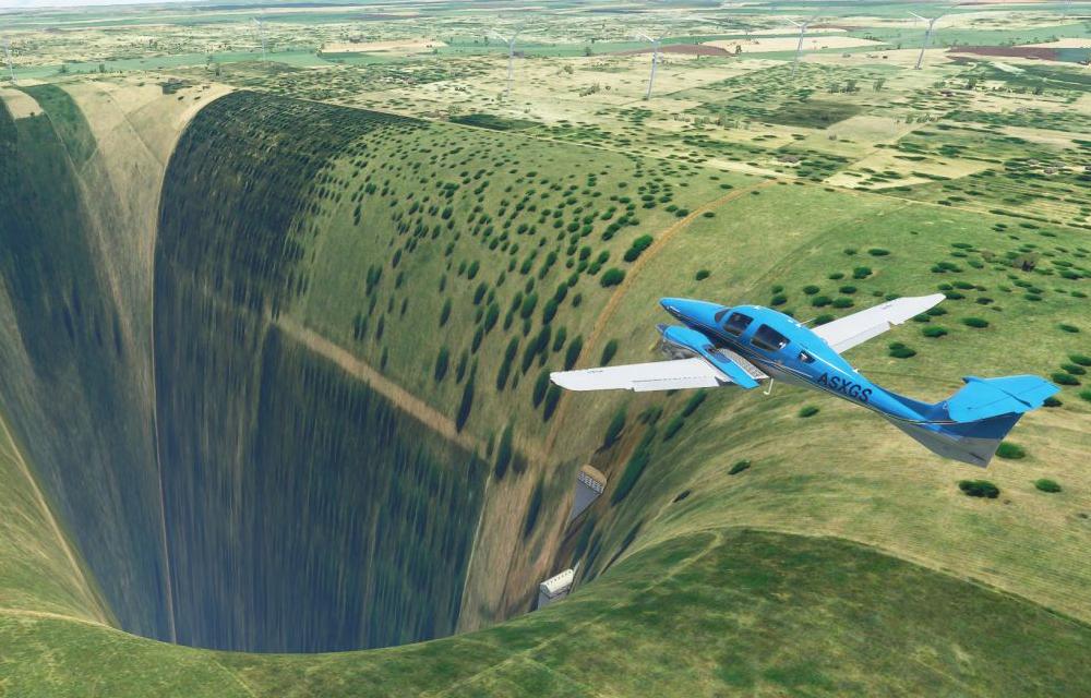 Microsoft Flight Simulator 2020 Chasm Airport Chaos