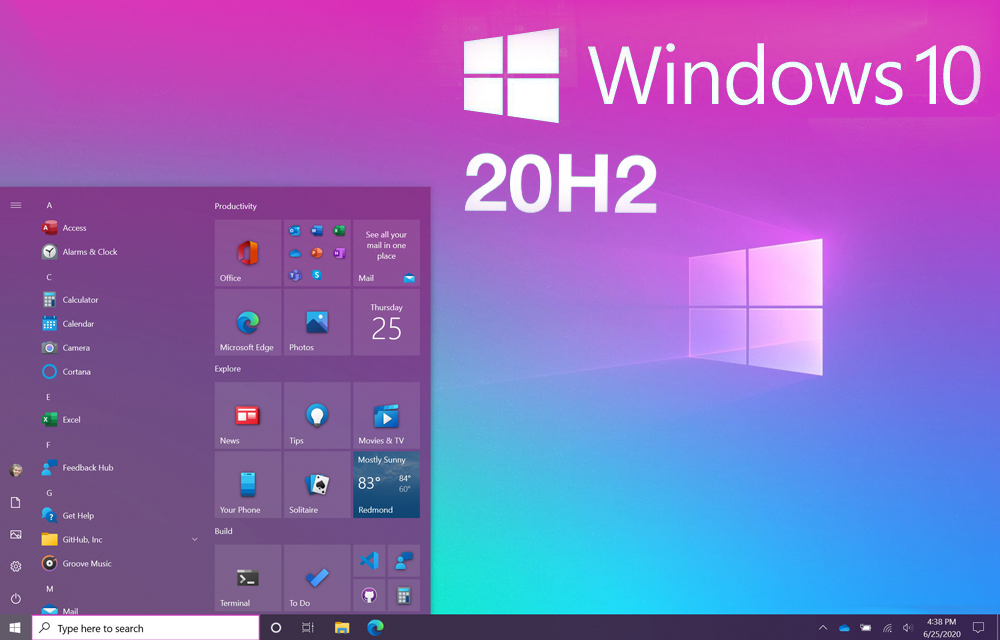 Windows 10 October Update 2020 Release Review Available