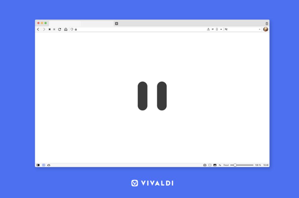 Πατήστε παύση στο Internet με τη βοήθεια του Vivaldi browser
