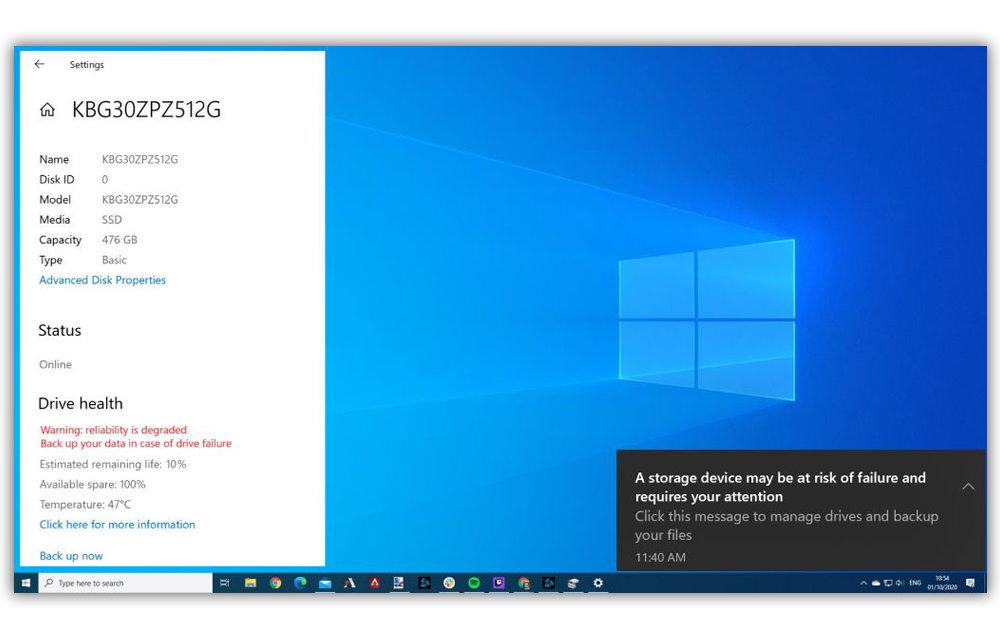 Windows 10 Last Build Has Storage Health Ckeck Tool