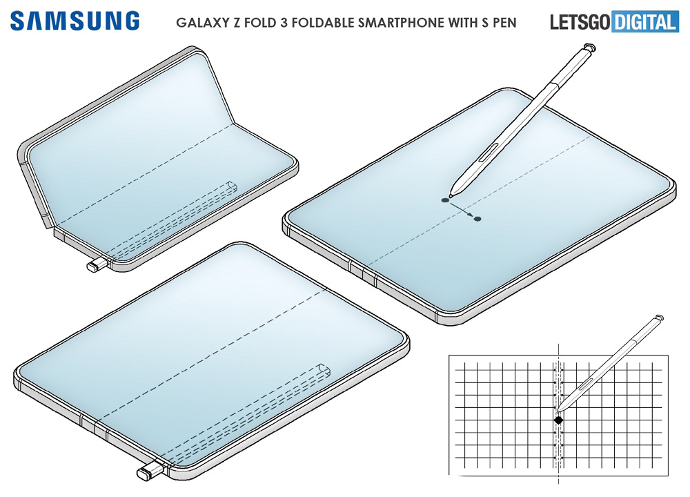 Samsung Galaxy Z Fold 3 S Pen Patent