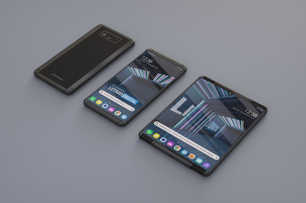 LG Rollable Smartphone Renders