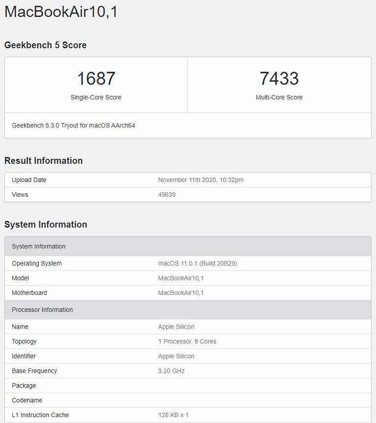 MacBook Air με M1: Ξεπερνάει τις επιδόσεις ενός MacBook Pro 16 με Intel i9