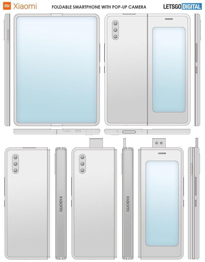 Πατέντα της Xiaomi για foldable αλά Galaxy Fold με pop-up selfie