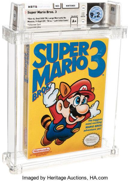 Ένα σφραγισμένο αντίτυπο του Super Mario Bros. 3 πουλήθηκε για $156.000
