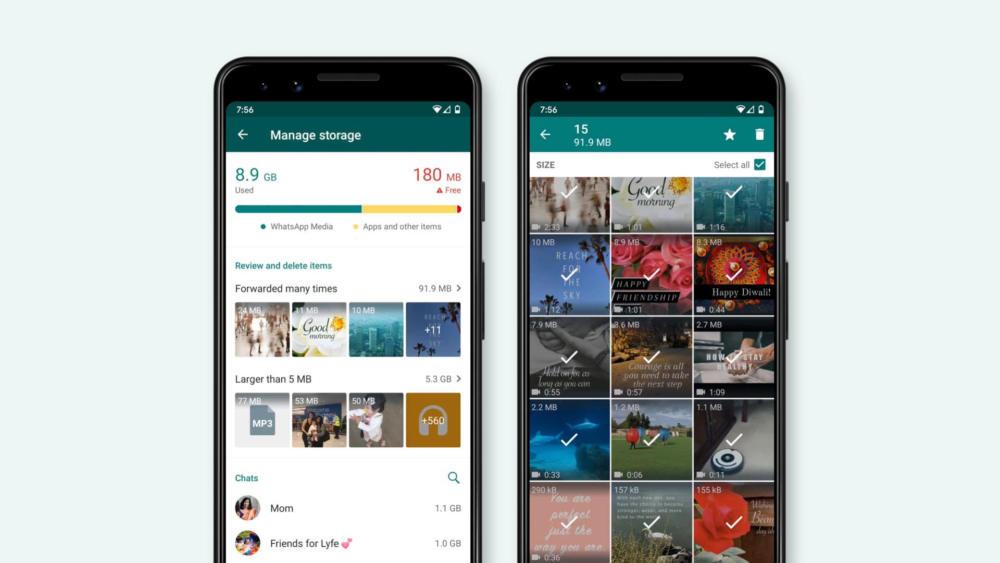 To WhatsApp βοηθά στην καλύτερη διαχείριση της μνήμης του smartphone