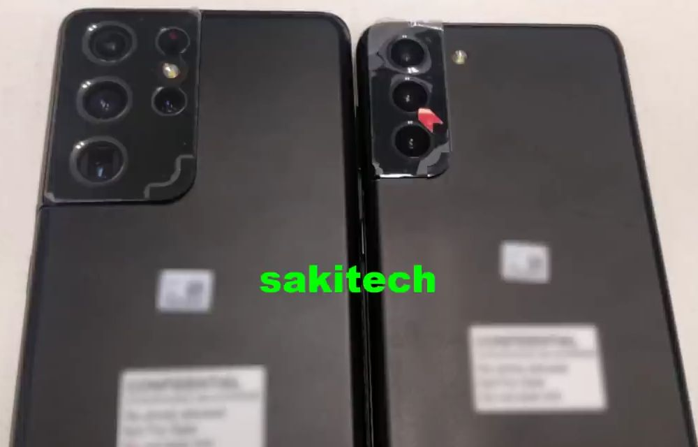 Samsing Galaxy S21+ and Samsung Galaxy S21 Ultra Live Image and Camera Specs