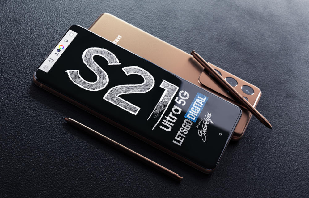 Samsung Galaxy S21 Ultra Hign Res Renders With S Pen by LGD