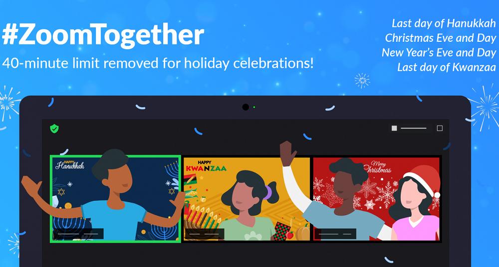 Zoom: Απενεργοποιεί το όριο των 40 λεπτών, όμως μόνο για τις γιορτές