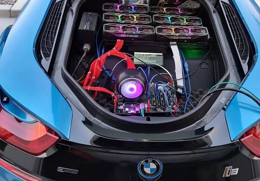 Miner μετατρέπει την BMW i8 του σε mining μηχανή για να εκνευρίσει τους gamers