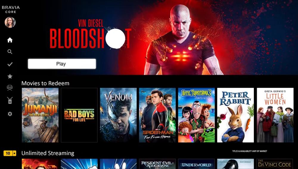 Bravia Core: Η Sony υπόσχεται streaming ταινιών σε ποιότητα 4K Blu-Ray [CES 2021]