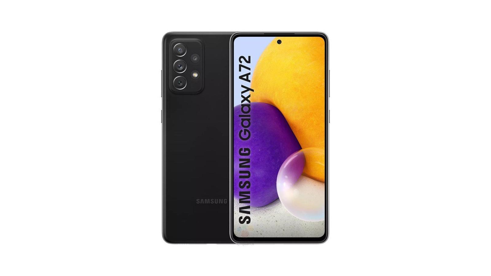 Samsung Galaxy A72 render
