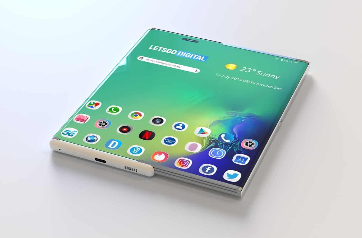H Samsung φέρεται να ασχολείται με rollable οθόνες
