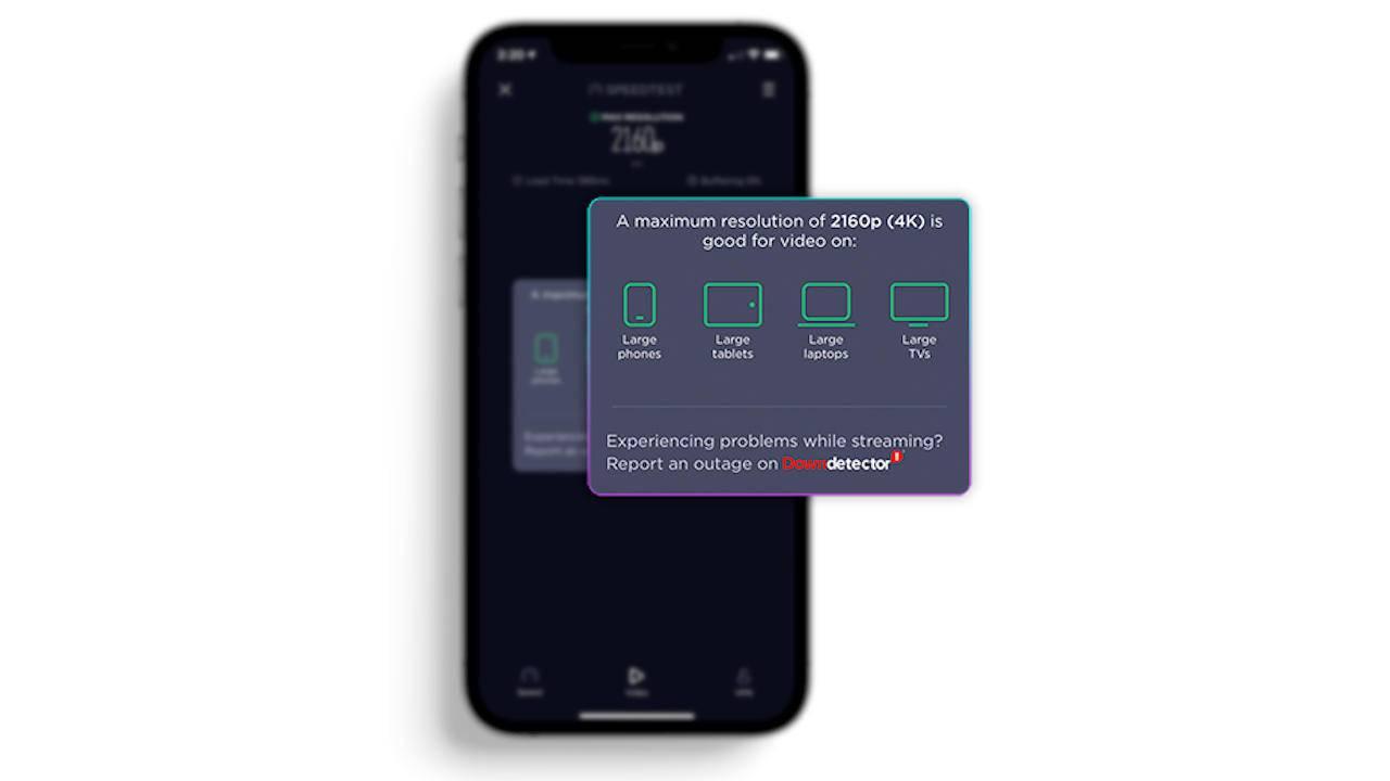 Το SpeedTest της Ookla μετρά τις δυνατότητες του streaming