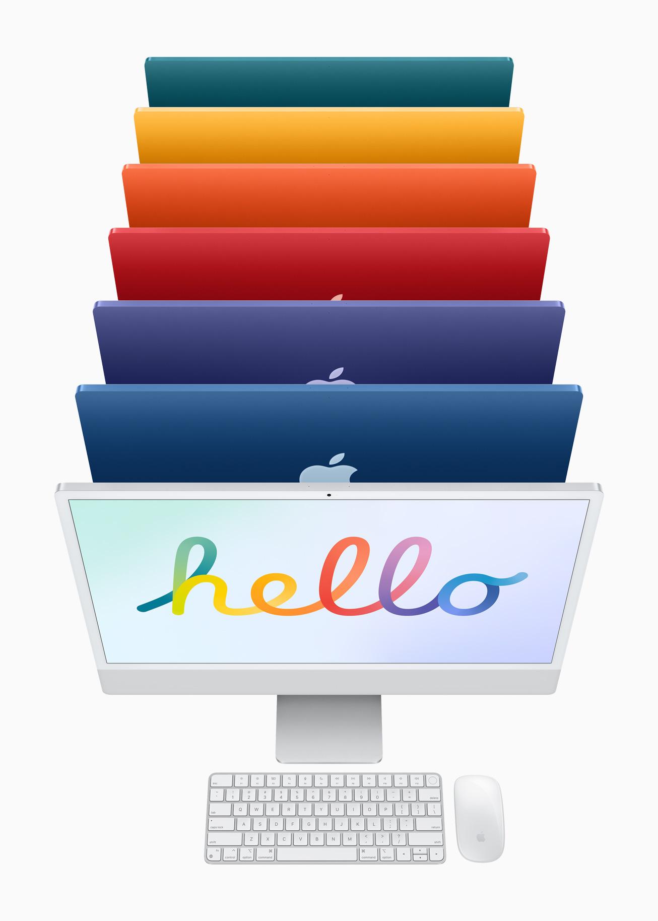 To Spring Event της Apple φέρνει το ουράνιο τόξο στα iMac