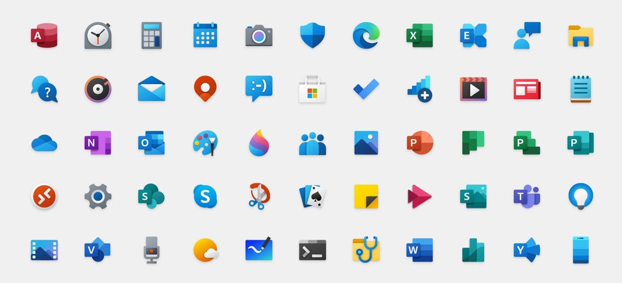 Επανασχεδιασμός εικονιδίων ενόψει για τα Windows 10