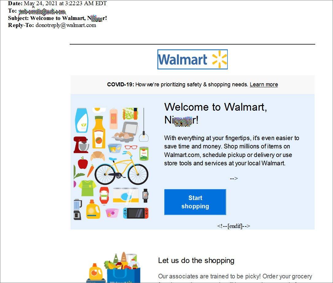 Ρατσιστικό παραλήρημα από emails που έστειλε το Walmart
