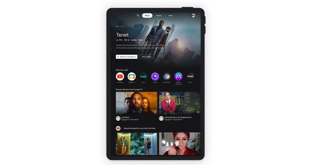 H Google φέρνει το Entertainment Space στα Android tablets