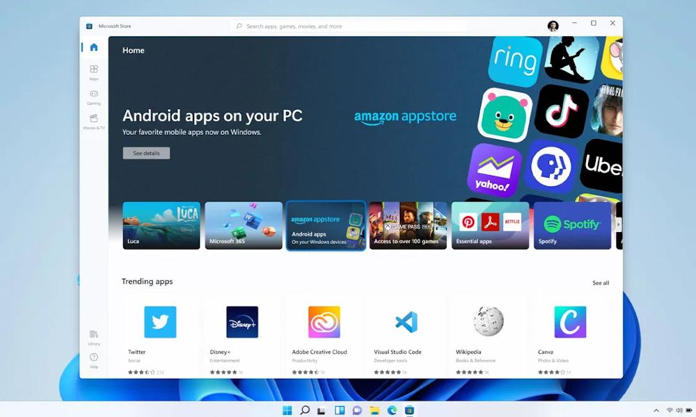 Android apps: Έρχονται στα Windows 11 μαζί με το Amazon Appstore