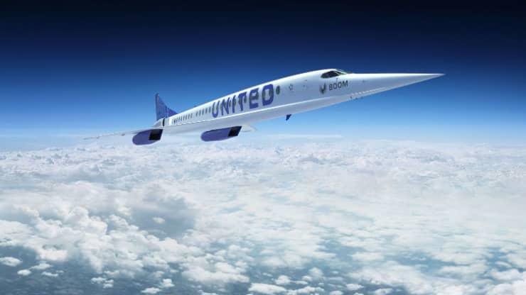 H United Airlines αγοράζει 15 υπερηχητικά Boom Supersonic