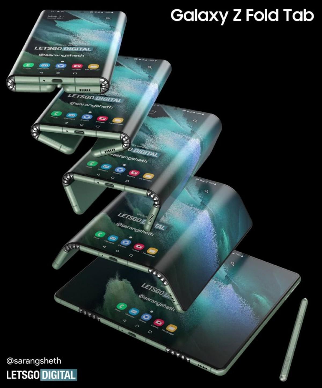 Πατέντα της Samsung δείχνει πώς οραματίζεται το Z Fold Tab